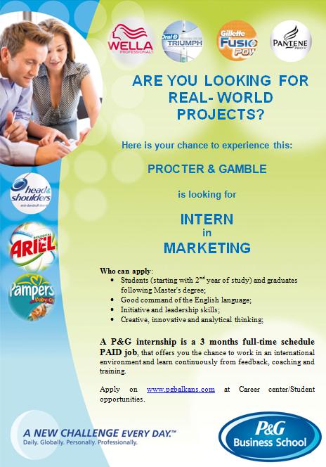 Marketing Internship @P&G