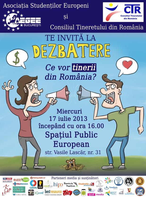 dezbatere - ce vor tinerii din România