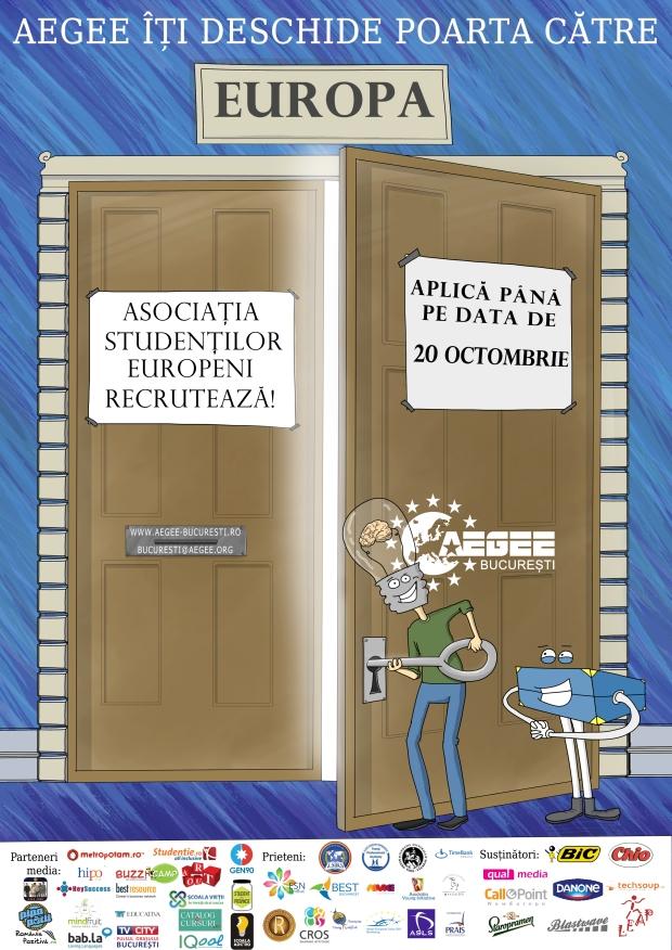 afis AEGEE-Bucuresti recrutari toamna 2013
